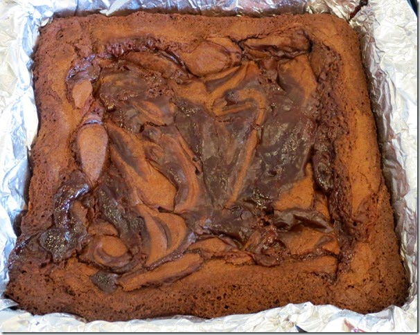 Nutella Caramel Swirled Brownies