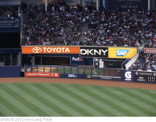 '385 Feet to Center Field, Yankee Stadium' photo (c) 2012, Ken Lund - license: http://creativecommons.org/licenses/by-sa/2.0/