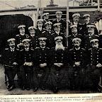 """Энквист в группе офицеров на борту крейсера """"Алмаз"""""""