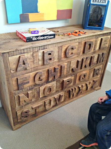 alphabet dresser