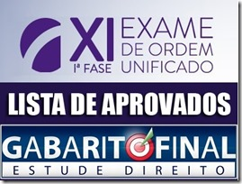 XI OAB - resultado 1ª fase - final