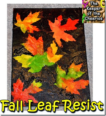Fall Leaf Resist Painting #fall #preschool