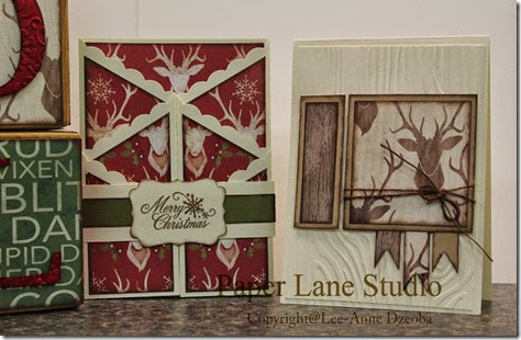 Woodland deer and Gate card