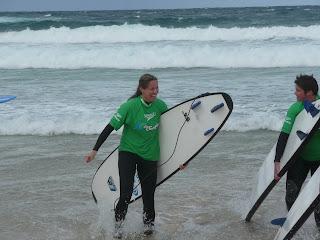 Surfing Bondi Beach - Aussie Winter 2010