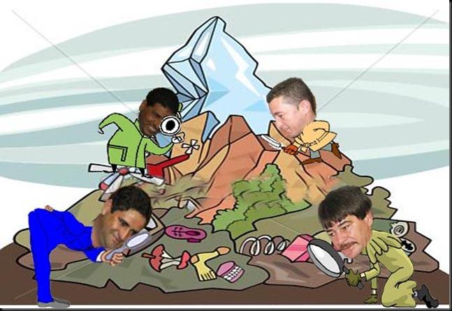 oposição inspecionando o lixo