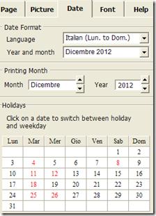 Photo Print Calendar Date