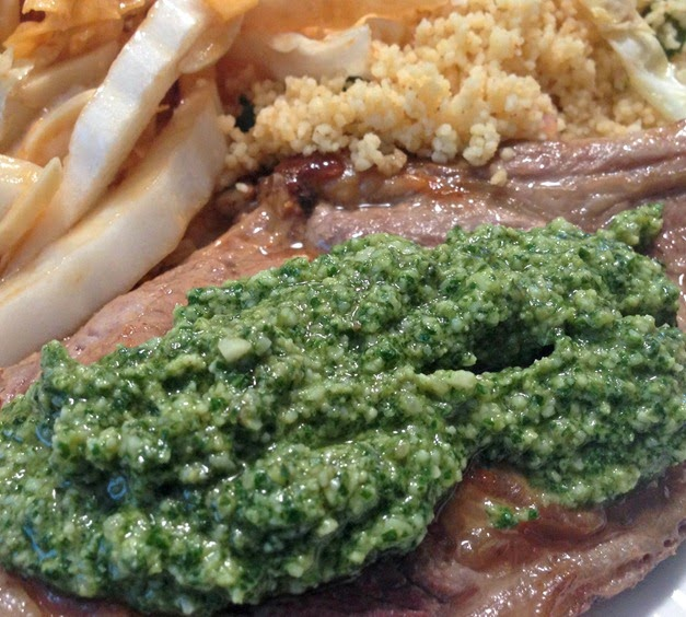 Steak with Pesto