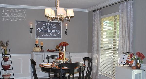 Dining room far wall
