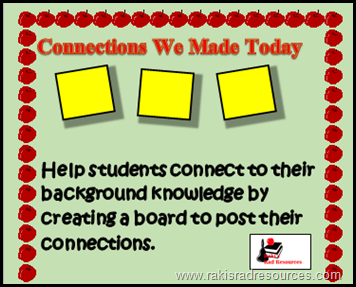 Tip for teaching English Language Learners- Students will have different background knowledge than you.  Make sure students are connecting with their background knowledge and not yours.  Tips from Heidi Raki of Raki's Rad Resources   Connection boards