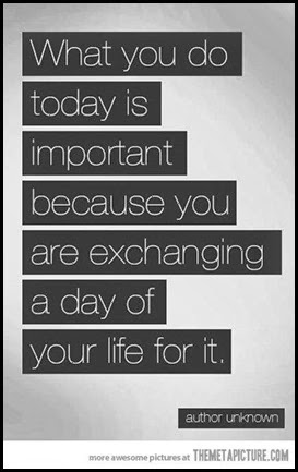 inspirational quote about spending a day