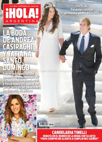 Candelaria tinelli en revista hola argentina for Revistas de chismes del espectaculo