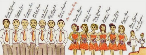 ceremony-program-wedding-party-illustration