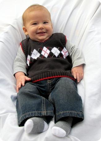 Nolan 4 month portraits 5x7