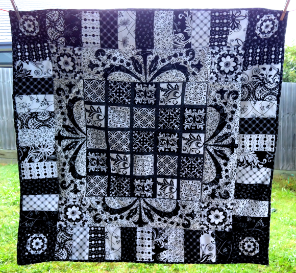 black and white quilt 01