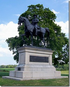 Statue of General John Reynold's across the road from the marker.