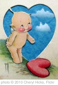 'Vintage Kewpie Valentine Postcard Close-Up' photo (c) 2010, Cheryl Hicks - license: http://creativecommons.org/licenses/by-sa/2.0/