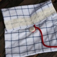 tea towel wash bag