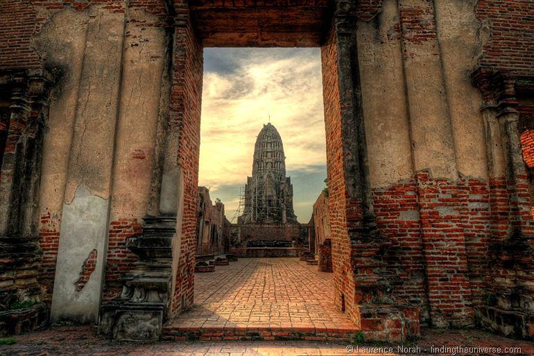 Wat Ratchaburana Prang Ayutthaya Thailand doorway
