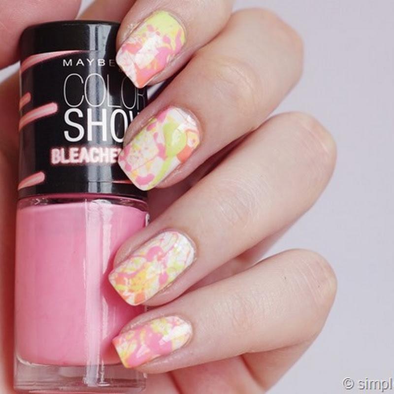 [Nail Art] Splatter Nails mit Bleached Neons