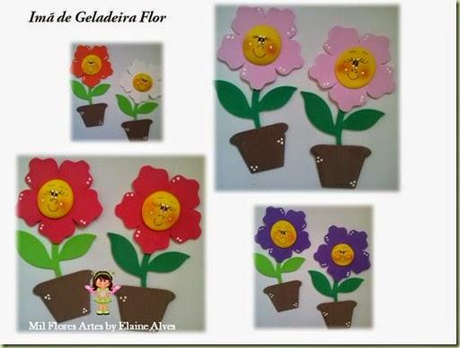 Imã de Geladeira Flor