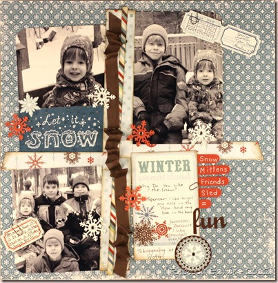 winter wonderland scrap page