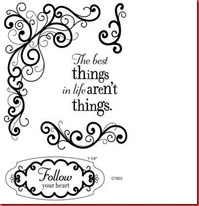 Best Things Stamp set C1503