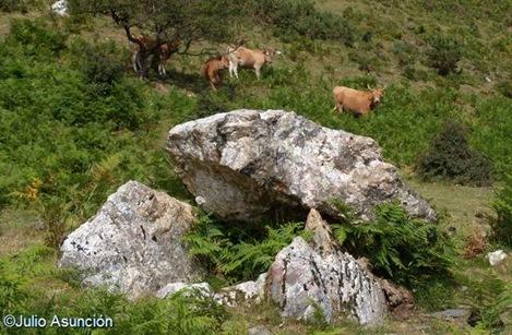 Dolmen de Añoenea - ruta megalítica de Arano