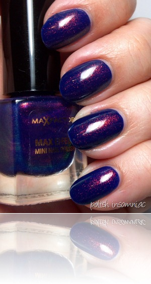 Max Factor Fantasy Fire (over Barry M Indigo) 8