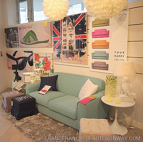 Francfranc VivoCity Jcube Singapore home interior furniture  store Japan living room sofa set table lamps curtains chair bed