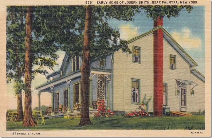 Joseph Smith Home, Palmyra, New York pg. 1 - 1937