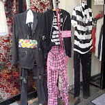 clothes displayed outside the store in Harajuku in Harajuku, Tokyo, Japan