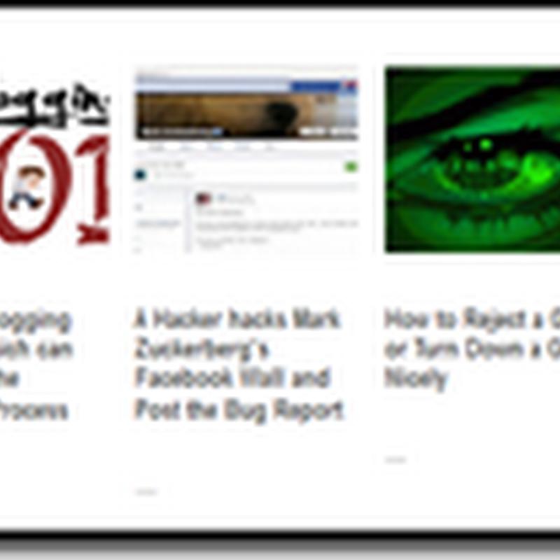 How To Add Beautiful Horizontal Random Post to Bloggers Blog