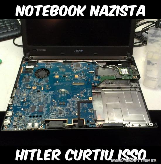 notebook nazista do hitler - humortisado