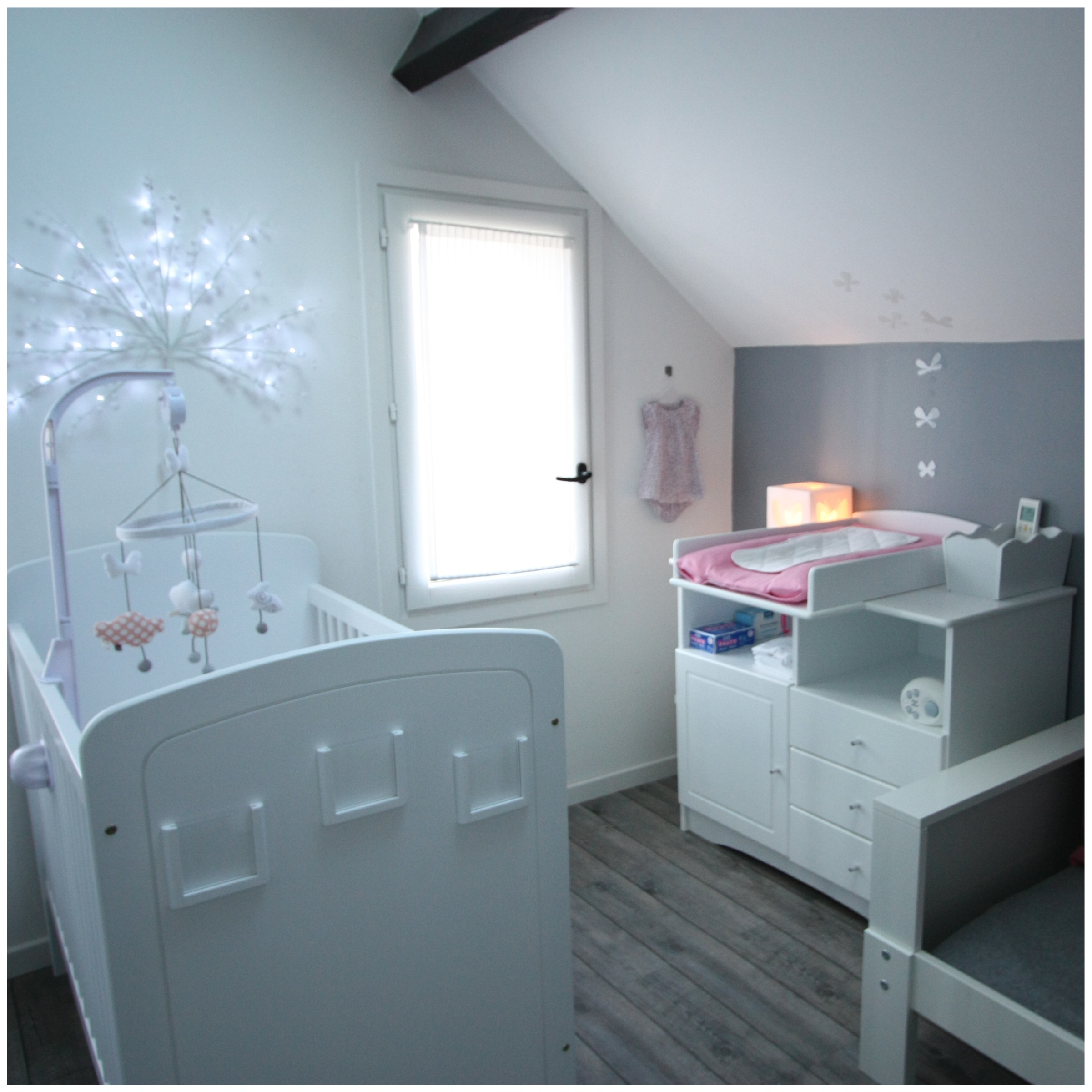 Beautiful Idee Deco Chambre Bebe Fille Rose Et Gris Images ...