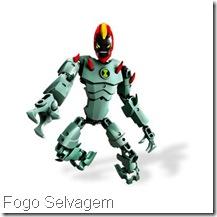 Lego Ben 10  Fogo Selvagem Fatuo Força Alienígena - Alien Force