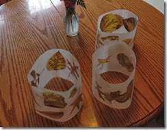 Wax Paper Leaf Lanterns