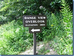 1224 Virginia - Shenandoah National Park - Skyline Drive - Range View Overlook - sign