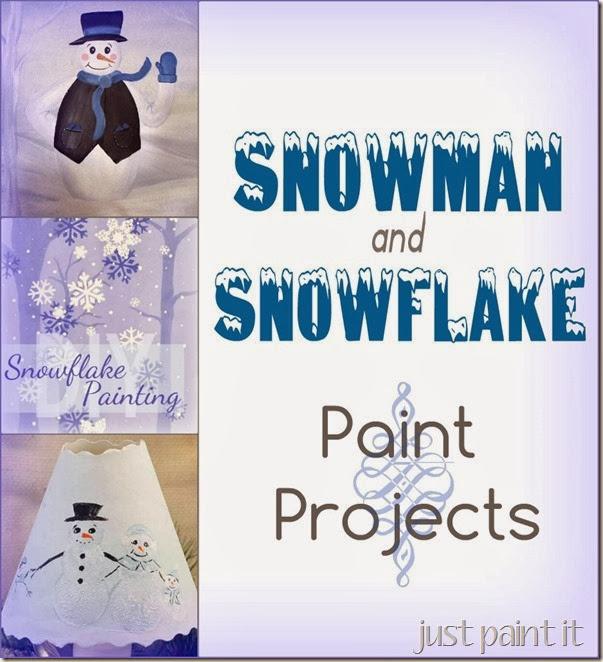 Paint Snowman Snowflakes