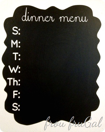 Chalkboard Vinyl Dinner Menu