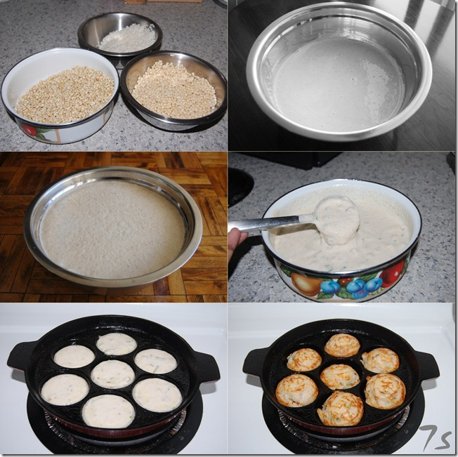 Whole wheat grain paniyaram process