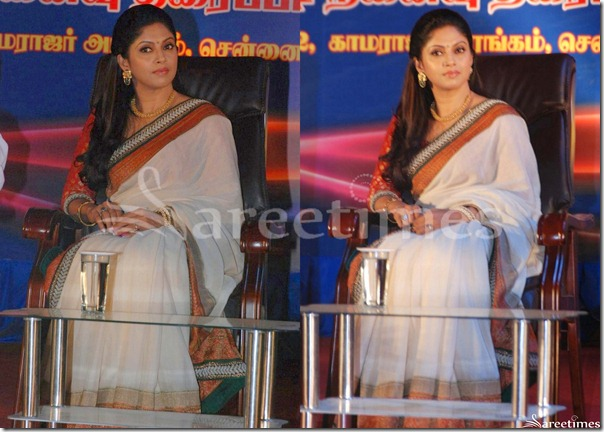 Nadhiya_White_Saree