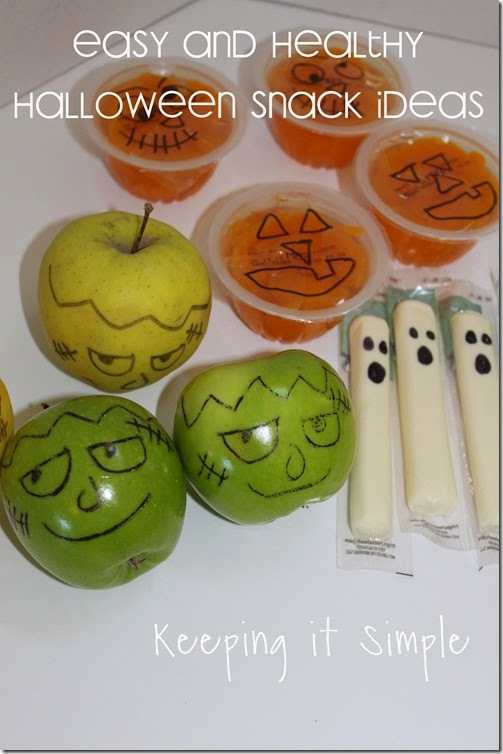 Easy and healthy Halloween Snack Idea