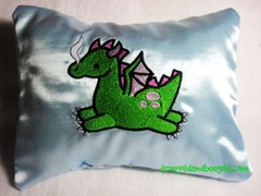 Embroidered Dragon on a Nightmare Protection Herbal Sleep Pillow