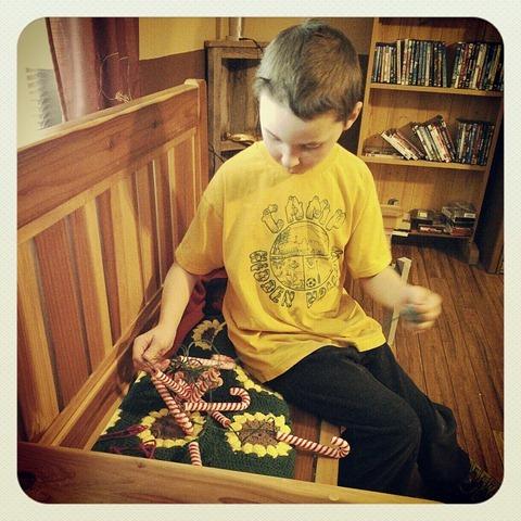 Caleb untangling
