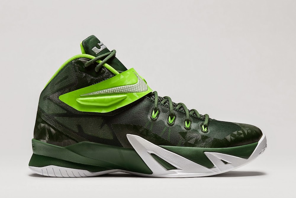 green nike running shoes lebron james viii shoes