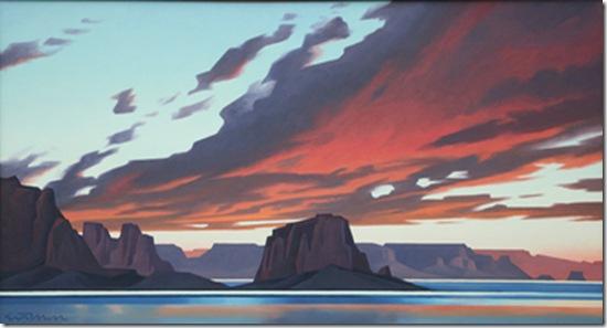 Flame Sky Lake Powell-Ed-Mell-Enkaustikos