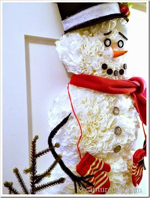 coffee filter snowman 35