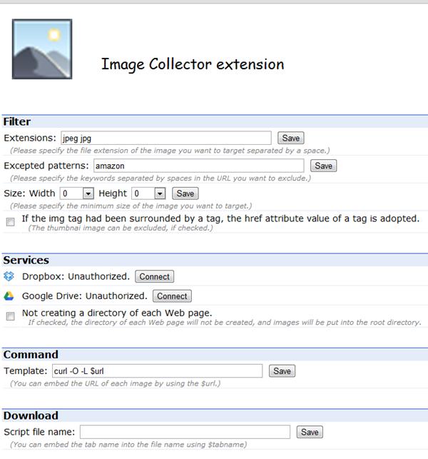 Une extension Chrome pour récupérer les images d'une page web