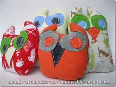 Owl Stuffie and pattern (18)