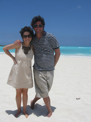 Here I am with Anthony on the beach. Don't forget your shades when you're out on the beach!